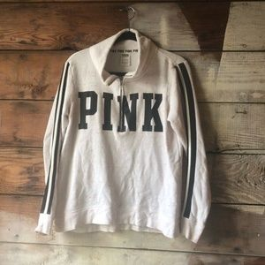 Pink Victoria's Secret Size Small Quarter Zip